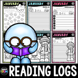 January Reading Challenge, Reading Logs, Book Logs, Snow and Winter Theme