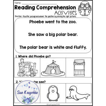 January Reading Comprehension Activities