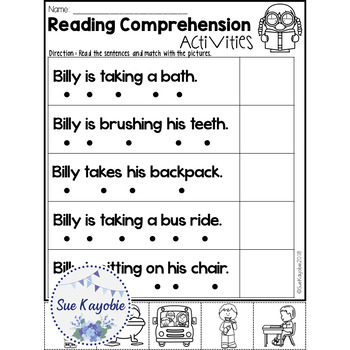 January Reading Comprehension Activities Freebies