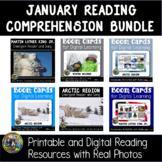 January Reading Comprehension Bundle   Boom Cards   Emerge