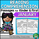 January Reading Comprehension Passages for Kindergarten and First Grade