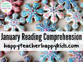 January Reading Comprehension: Winter, Snowman, Mitten