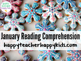 January Reading Comprehension: Winter, Snowman, Mitten