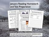 January Reading Homework and Test Preparation