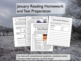 January Reading Homework and Test Preparation