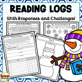 January Reading Logs in class or homework, Responses, Reading Challenge!