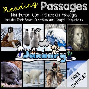 January Reading Passages - Freebie Sampler (Polar Bears)