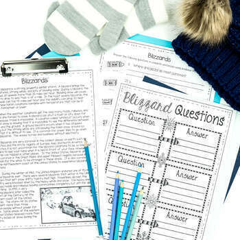 January Reading Passages Nonfiction Text & Comprehension Activities
