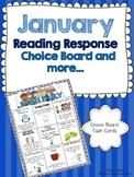 January Reading Response Choice Board