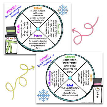 January Reading Spinner Choice Boards