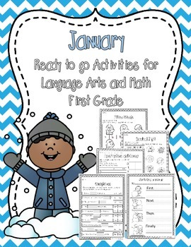 January Ready to Print Activities (Grade 1)