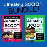 January Review BUNDLE {1st Grade Math & ELA}