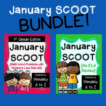 January Review BUNDLE {1st Grade Math & ELA}