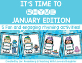 January Rhyming Activities