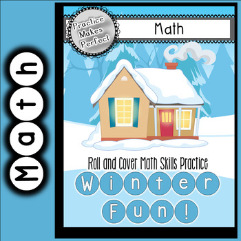 Winter Fun Roll and Cover Math Games Plus