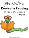 January Rooted in Reading Vocabulary Slides (3rd Grade)