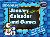 January SMARTboard Calendar and Games!