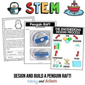 Build a Penguin Raft Winter STEM Activity