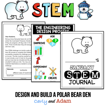 Build a Polar Bear Den January Winter STEM Activity