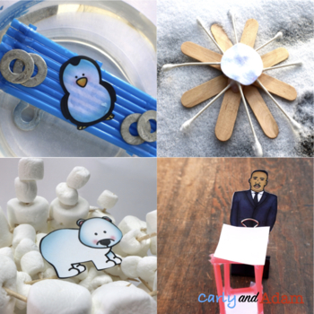 January Winter STEM Activities and Winter STEM Challenges Bundle