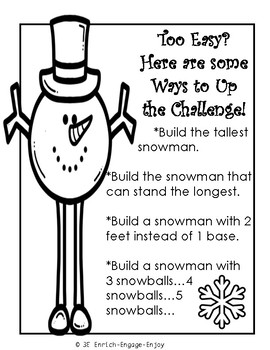 January STEM STEAM Challenge: Snowman on Stilts