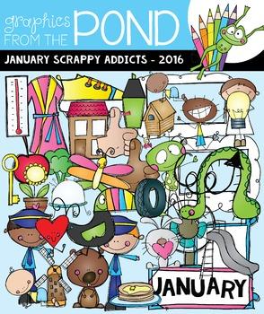 January Scrappy Addicts - 2016