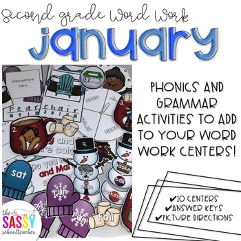 January Second Grade Literacy Centers