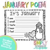 January Sensory Poem