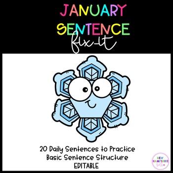 January Sentence Fix-It EDITABLE