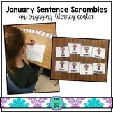 January Sentence Scrambles