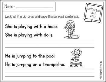 January Sentence Writing