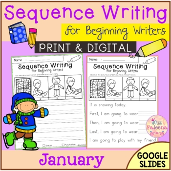 January Sequence Writing for Beginning Writers