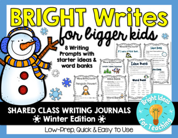 Bright Writes for Bigger Kids: Journal Prompts {Dec./Jan.}