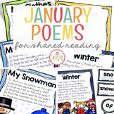 January Shared Reading (Sight Word Poems)