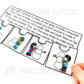 January Short Story Sequencing Jigsaws