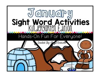 January Sight Word Activities