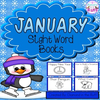 January Sight Word Books