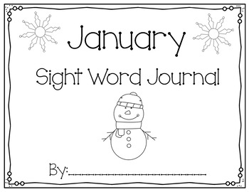 January Sight Word Journal-Print and Go!