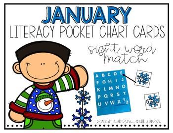 January Sight Word Match Pocket Chart Fun