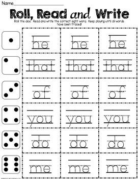 January Sight Word Pack - Books - Worksheets - Sentences