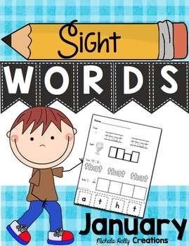 January Sight Word Pack - Books - Worksheets - Sentences