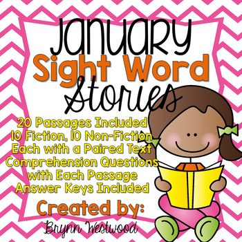 January Sight Word Stories