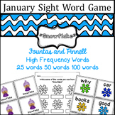 January Sight Word game - Fountas and Pinnell High Frequency Word