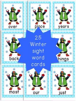 January Sight Words