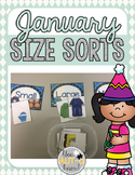 January Size Sorts - CCSS Aligned for Kindergarten