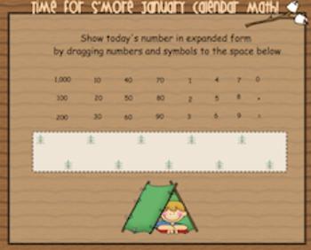 January Smartboard Calendar Math