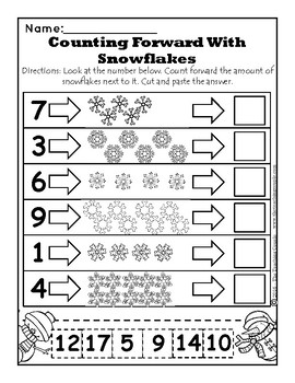 January Snow Days and February Valentines Day NOPREP Kindergarten Math Pack!