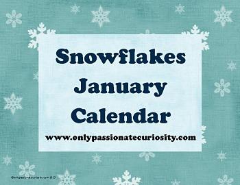 January Snow Pocket Chart Calendar