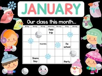 January Snowball Fight Bulletin Board - BeBe Bulletin Boards, Class Decor Set
