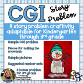 January Snowman Craftivity   CGI Math Word Problem   Story Problem